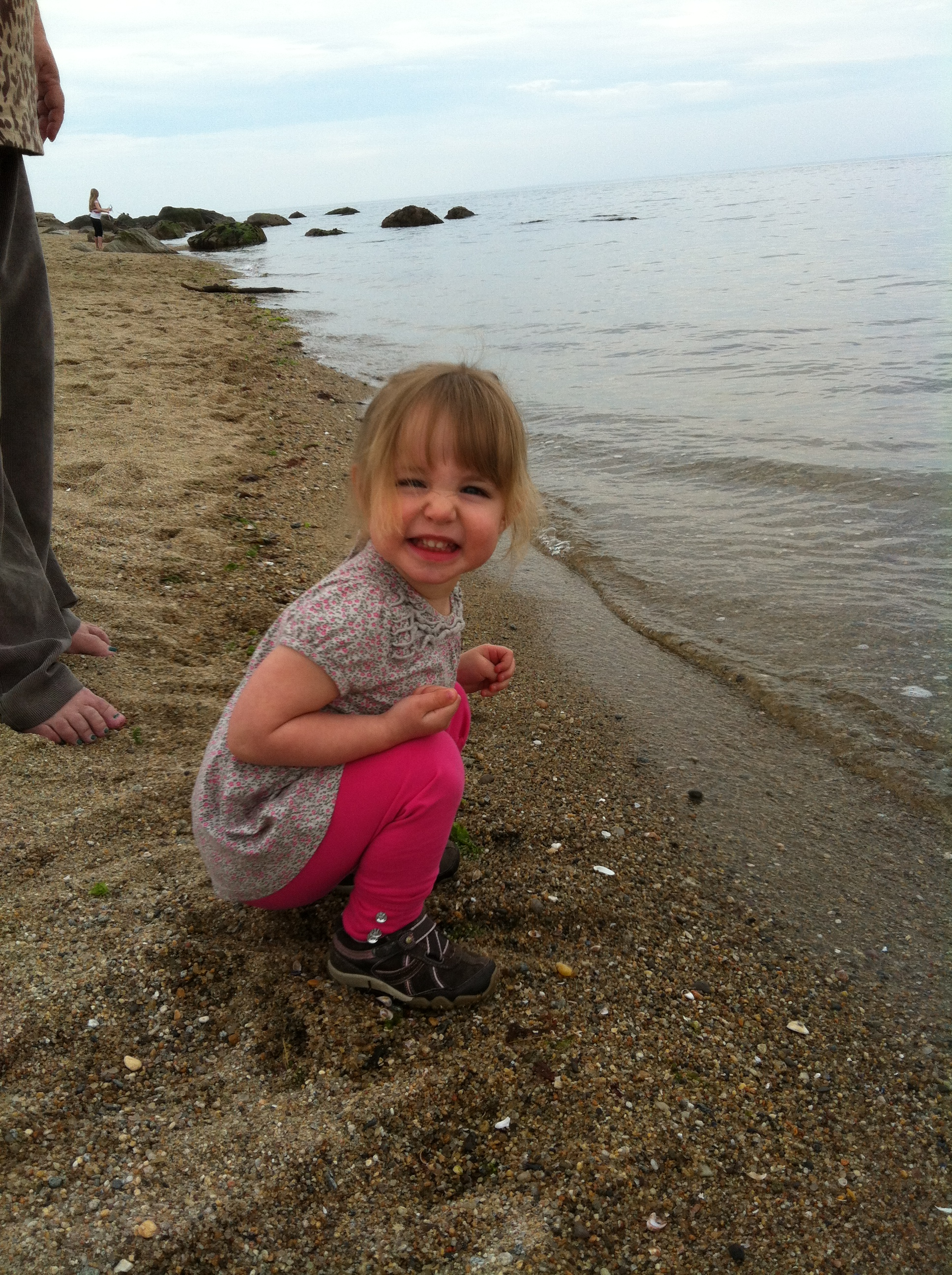 Connecticut Vacations_first time at beach