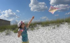 Flying a Kite at Navarre Beach