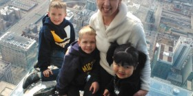 Heather and Family at Willis Tower in Chicago