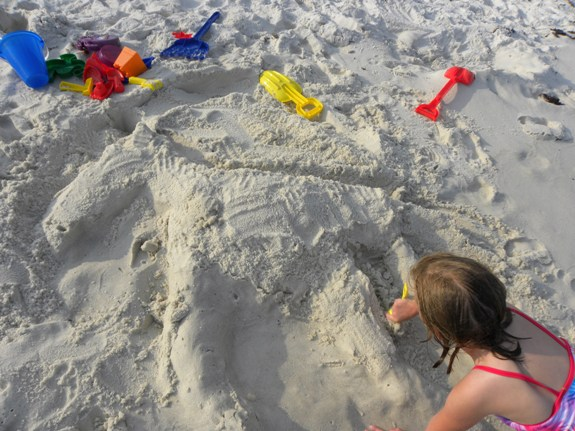 Playing in the sand in Florida