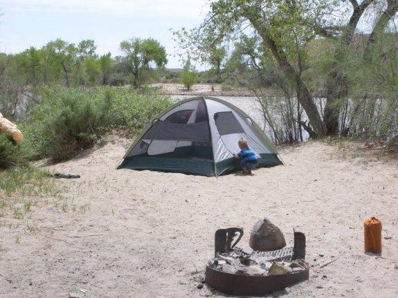 Camping at Swasey Beach