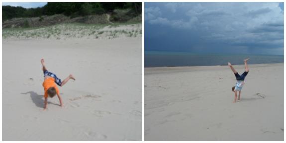 Kids Enjoying the Sandy Beach