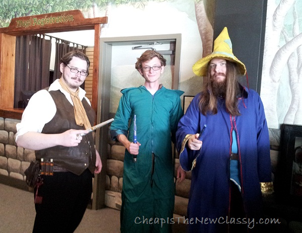 Characters at Magiquest in Pigeon Forge Tennessee #sponsored