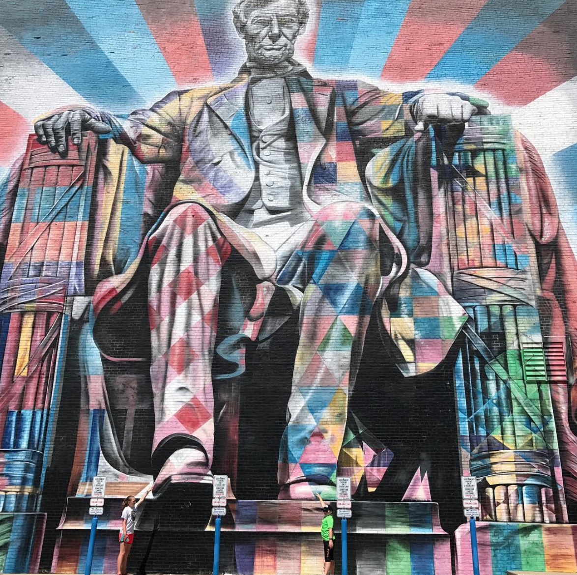 Abraham Lincoln Street Art Lexington Kentucky