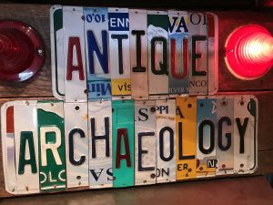 antique archaeology sign