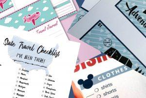 printable travel checklists and menus