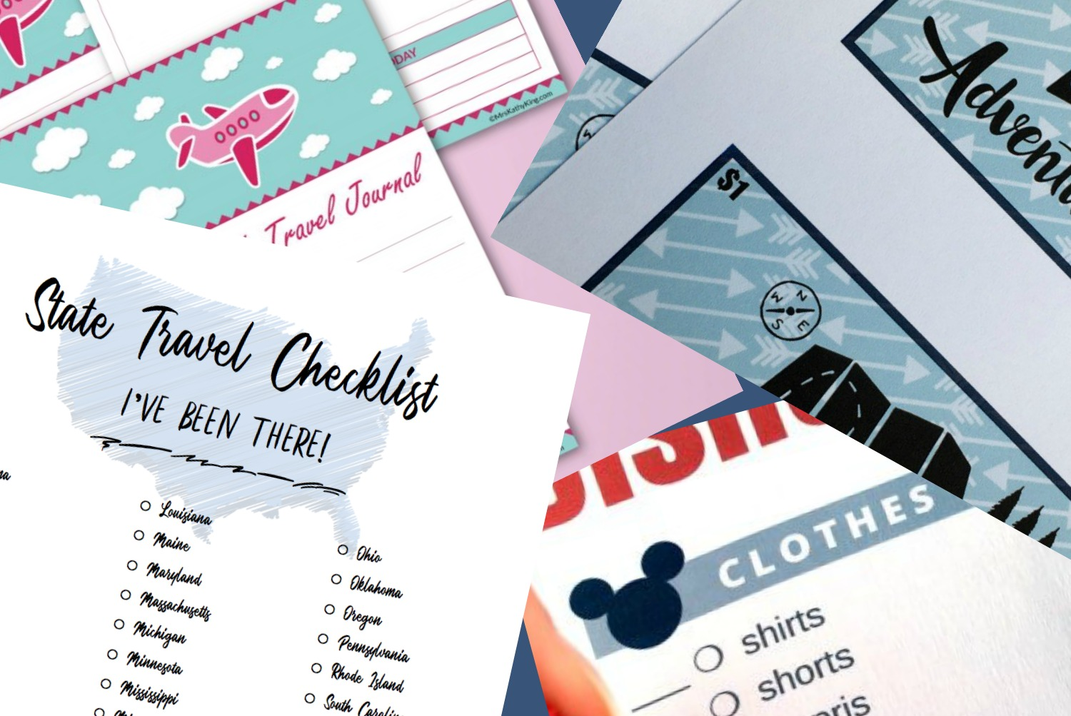 printable travel checklists and menus