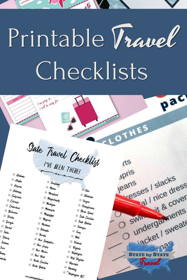 printable travel checklists