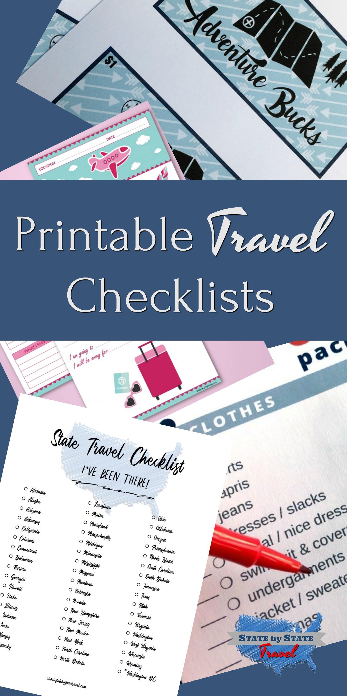printable travel checklists